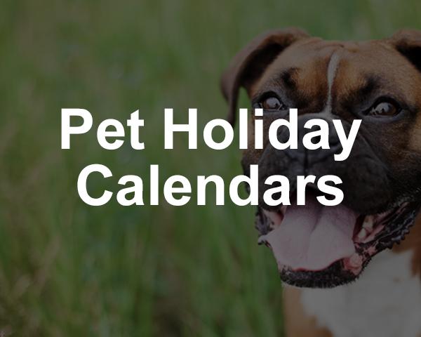 Pet Event Calendars 2020